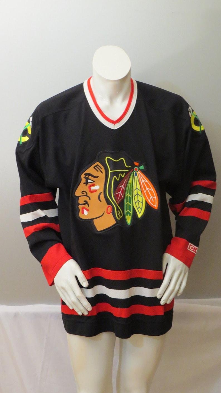 5630663e5 Chicago Blackhawks Alternate Jersey Black Jersey by CCM