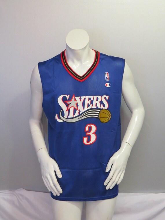 świetne ceny nowy autentyczny nowe style Philadelphia 76ers Jersey (Retro) by Champion - Allen Iverson # 3 - Men's  Medium