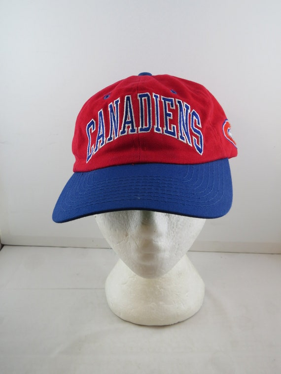 Montreal Canadiens Hat Vtg Two Tone Arch Script By Starter Etsy