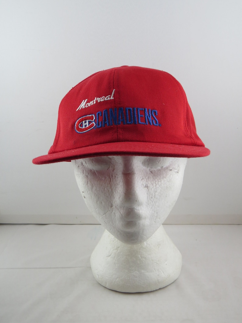 424fb230dbc26 Montreal Canadiens Hat VTG Script Front by CCM Adult