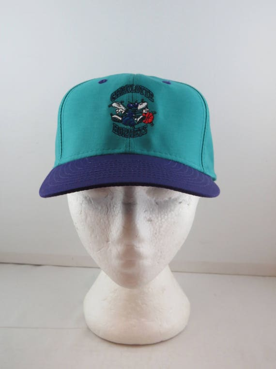 Charlotte Hornets Hat (VTG) - Two Tone by Midway -