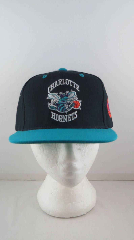 95e9b7e68 Charlotte Hornets Hat VTG Hornet Logo Two Tone Adult | Etsy