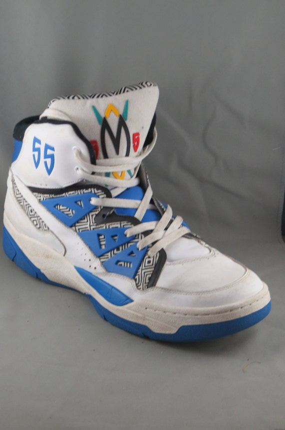 Dikembe Mutombo Shoe Size.Adidas Originals Dikembe Mutombo 55 1993 Blue White Hi Top Shoes Size 16