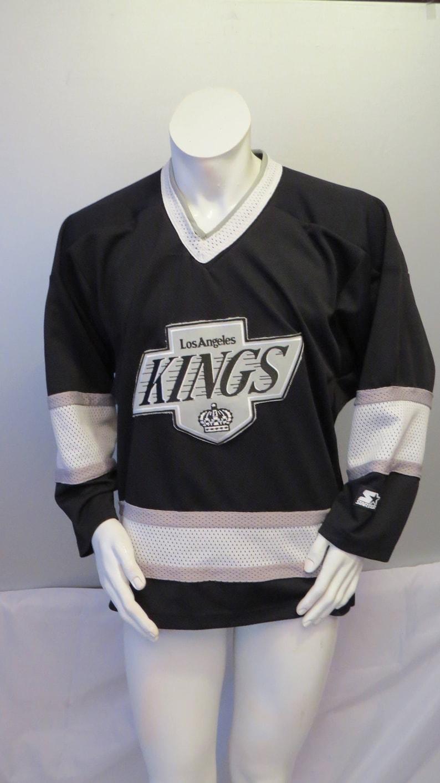 size 40 c2626 6ea6d Vintage LA Kings Jersey - Away Black by Starter - Men's Medium