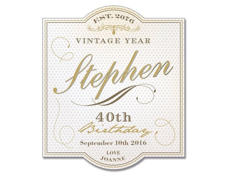 Happy Birthday Wine Label