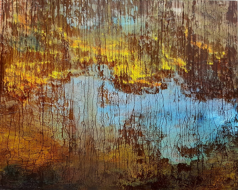Original hand painted oil painting-Abstract  made by Sarmite image 0