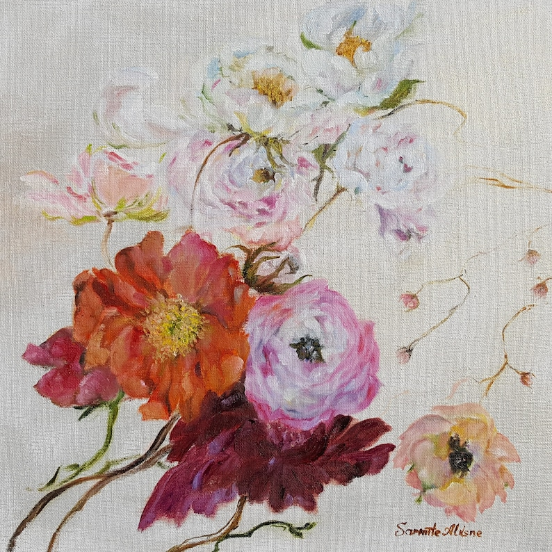 Reprint oil painting  Flower Show small made by Sarmite image 0