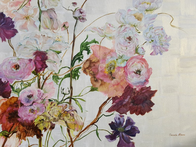 Original hand painted oil painting  Flowers Show made by image 0