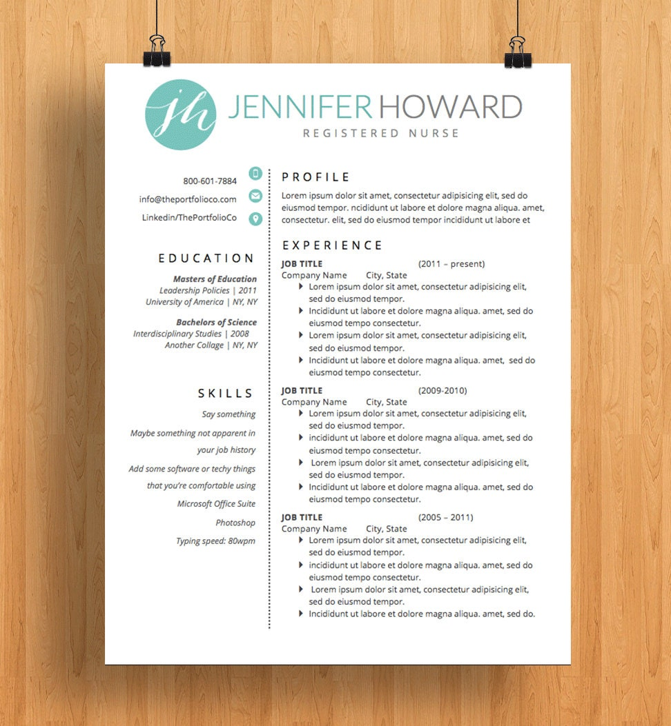 professional resume template cv and cover letter resume