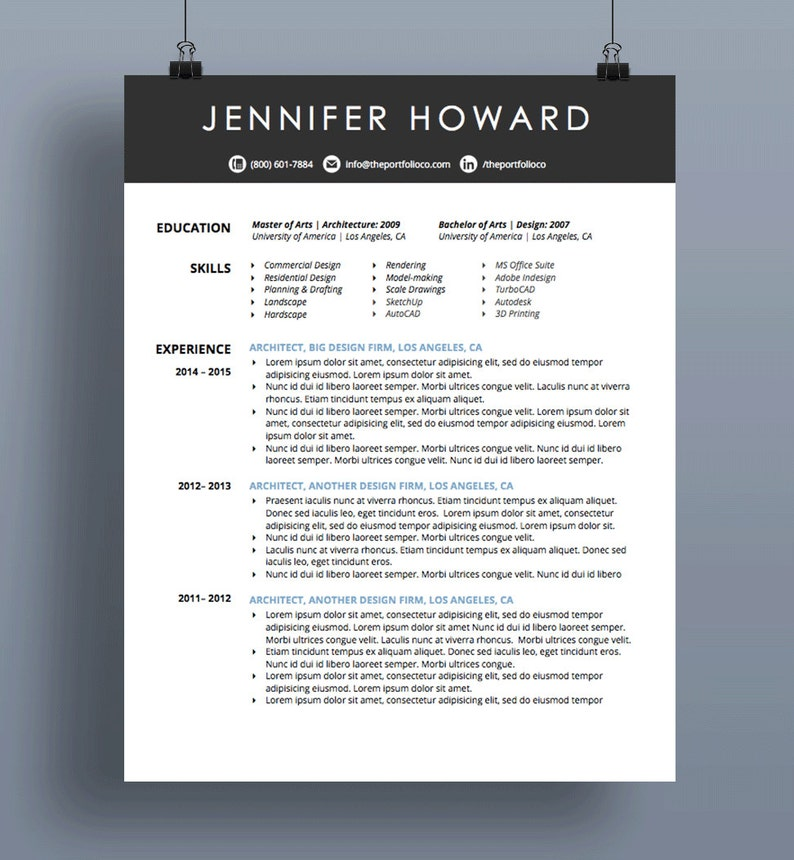 Creative Resume Template | CV + Cover Letter | Modern, Functional Resume  Designs | Mac or PC | Customizable ("|794|860|?|en|2|b6ed90fb7096d995593e984ae07333c9|False|UNSURE|0.33968719840049744