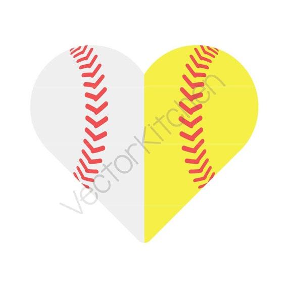 Split herzförmige halbe Baseball / Softball Kugel schneiden