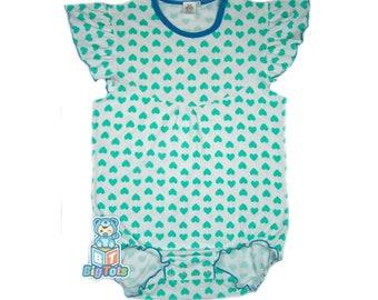 97b667c2b Adult Baby Ruffled HEARTS snap crotch Bodysuit ABDL