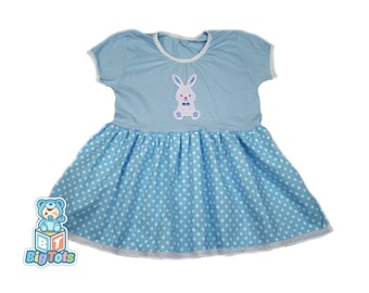 Adult collar bodysuit  Baby/'s with bunny caps print romper pink color
