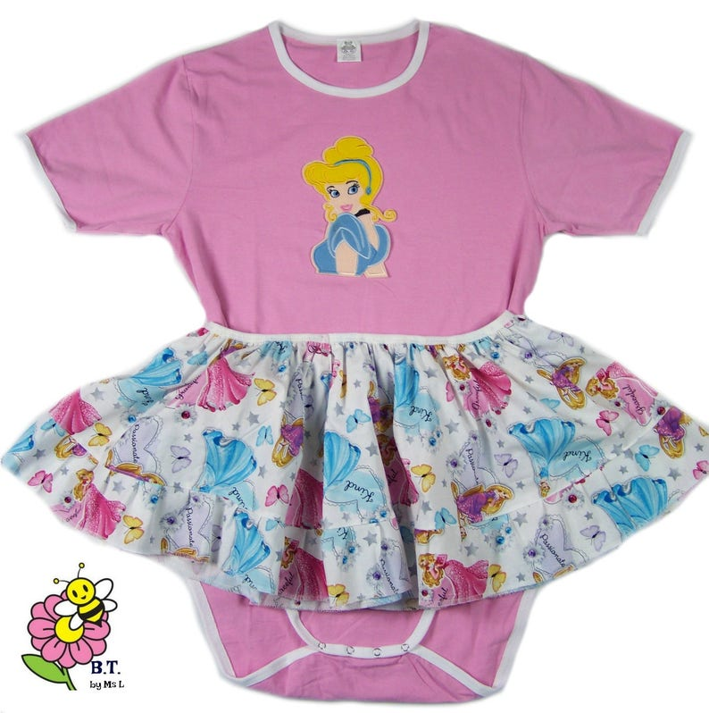 1bc492124 Adult Baby Disney Princess bodysuit set ABDL | Etsy