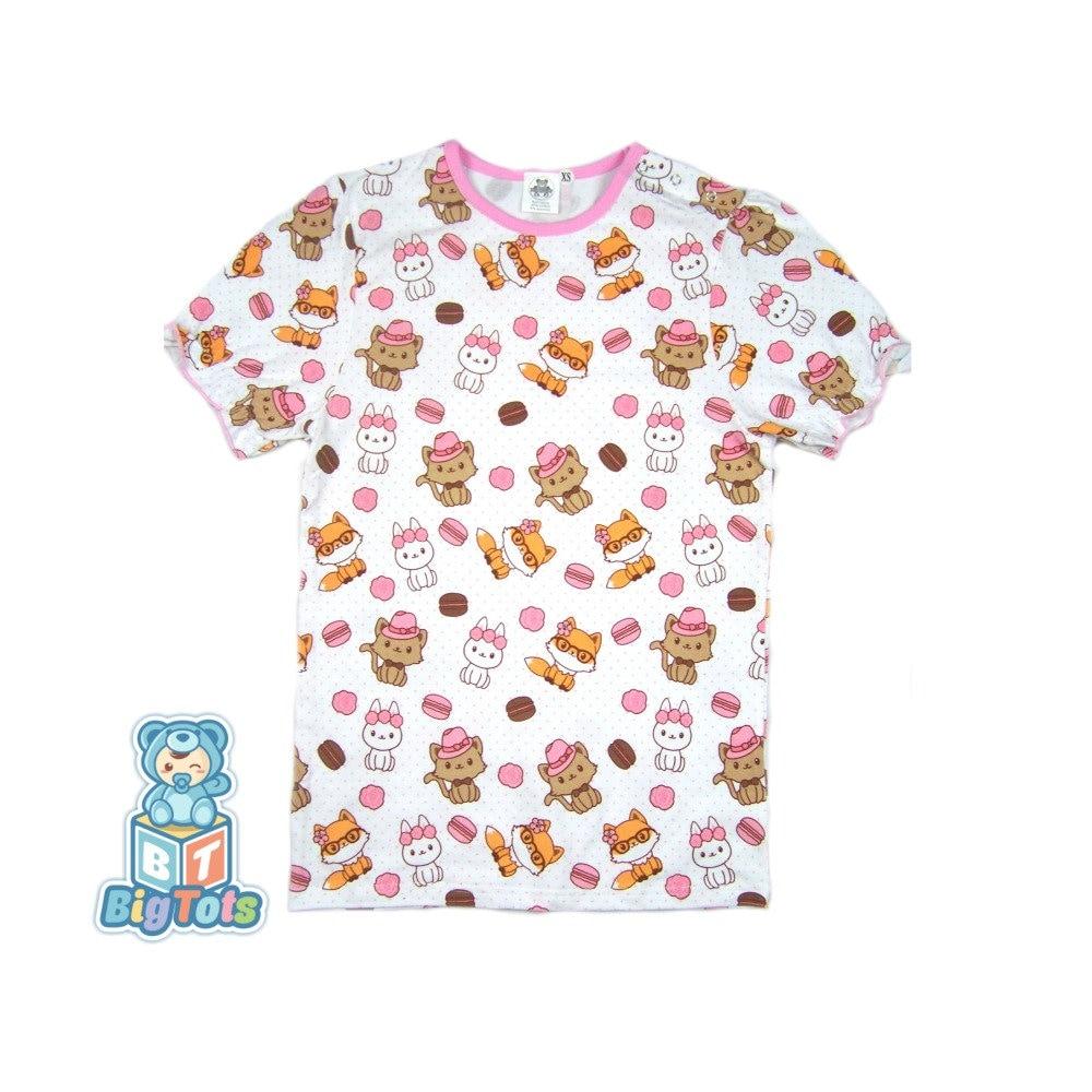 Adult PINK GIRLY lap shoulder shirt