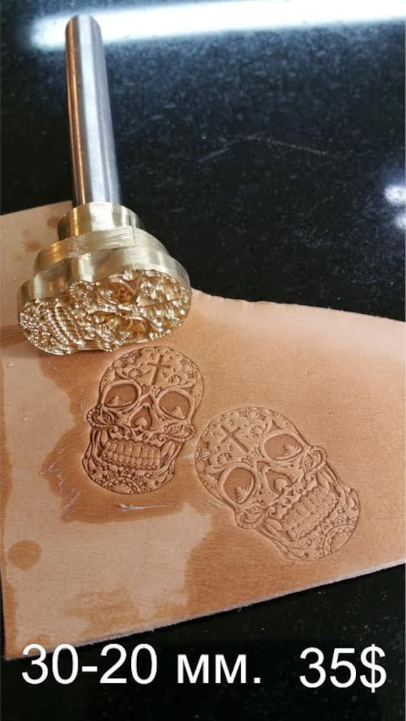 Skull with Hat Leather Stamp Tool Stamps Stamping Carving Punches Tools Craft Leathercrafting