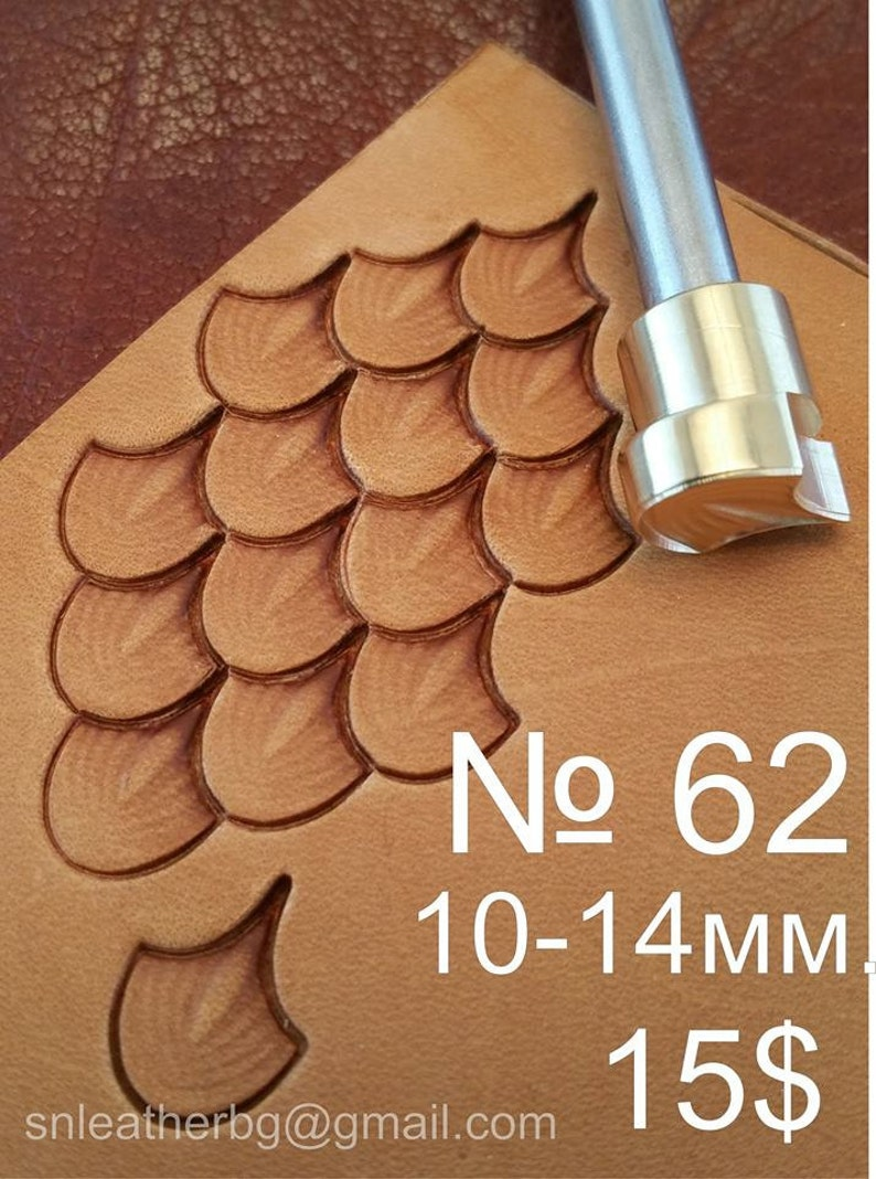 Tools for leather crafts. Stamp 62  Dragon scale image 0