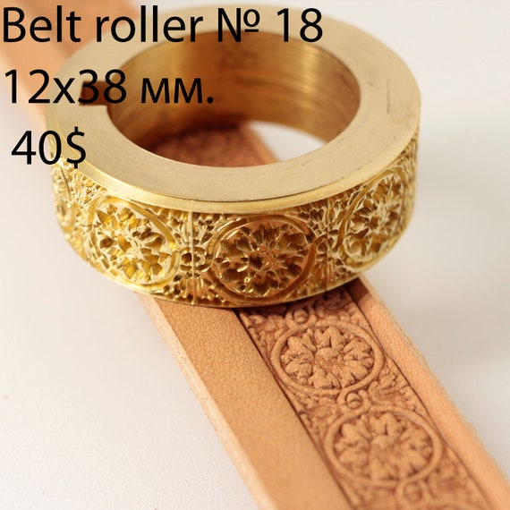 Leather crafting stamp tool for leather crafts brass stamps Belt Roller 9