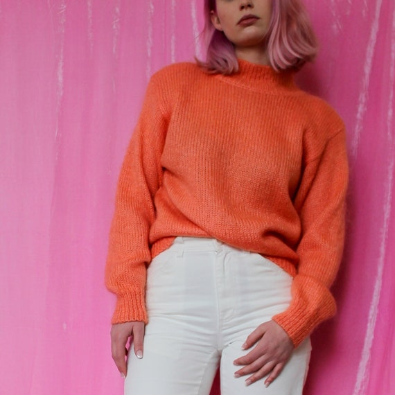 Orange Sherbet Mohair Sweater