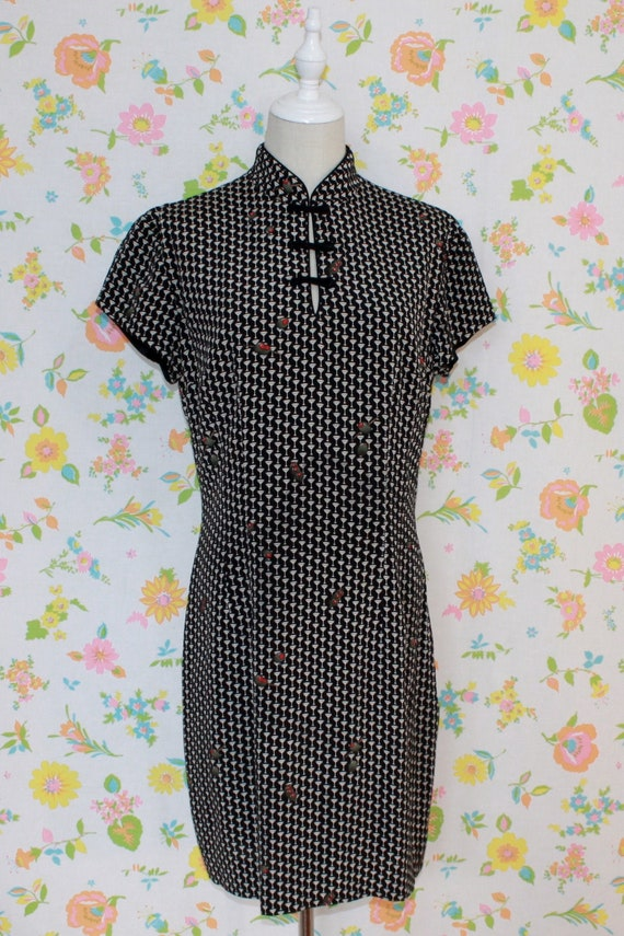 Martini Time Novelty Print 90s Nicole Miller Dress