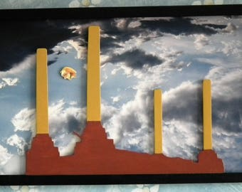 Pink Floyd inspired wooden picture Rock and Roll music artwork wall art