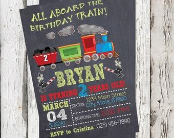 BIRTHDAY TRAIN INVITATION