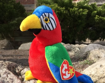Jabber the Parrot,  TY 1997 Beanie Baby