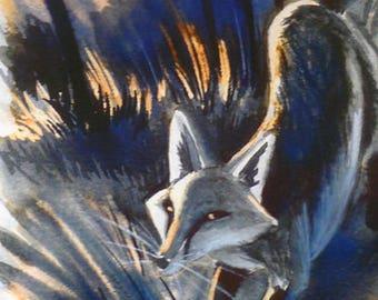 Running fox print