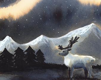 Aurora boreal print
