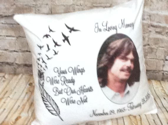 Memorial Throw Pillow, Your Wings Were Ready Our Hearts Pillow, Gift for  Her, Christmas Gift, Memory Pillow, Remembrance Gift, Keepsake Gift
