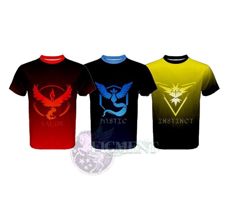 5933cb30 Pokemon Go: Team T-Shirt Mystic Instinct Valor Pokemon | Etsy