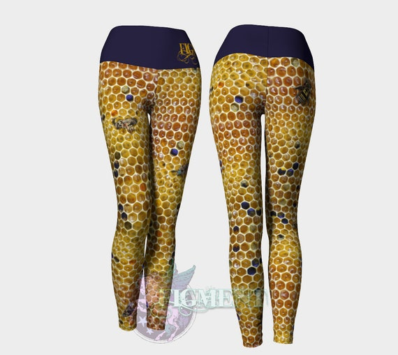 Honeycomb Yoga Leggings Bee Leggings Apiary Leggings Etsy