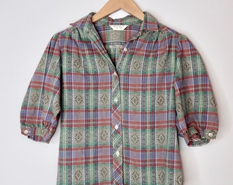 Puff-Sleeved Western Shirt