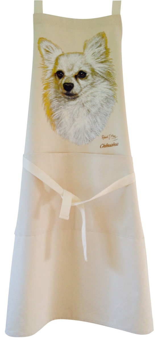 Labrador black pencil Dog Natural Cotton Apron Double Pockets UK Made Baker Cook