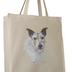 Schnauzer /'Portrait/' C Breed Dog Cotton Bag with Gusset Xtra Space Perfect Gift