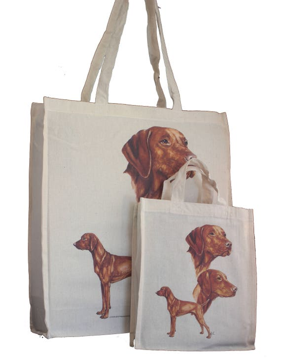 Vizsla Cotton Shopping Bag Tote with Gusset for Xtra Space Perfect Gift