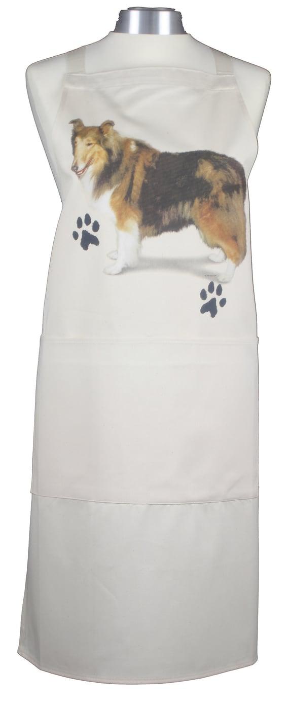 Basset Hound new Dog Natural Cotton Apron Double Pockets UK Made Baker Cook