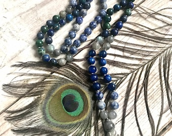 Mala Beads - Kyanite, Labradorite, Sodalite Mala Beads