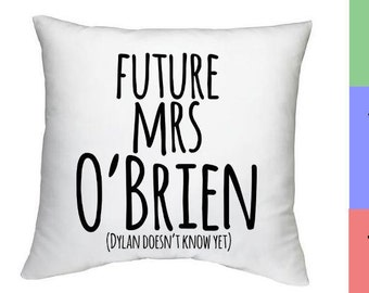 Future mrs O'Brien- decorative pillow case - Teen Wolf, Dylan O'Brien