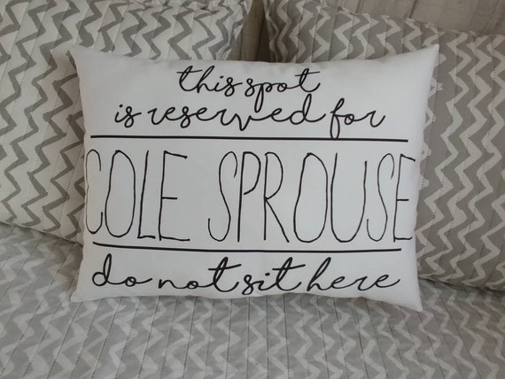 40 Color Options Cole Sprouse This Spot It Reserved Etsy Magnificent Riverdale Decorative Pillows