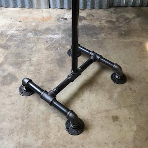 Black Pipe Table Base Diy Parts Kit Pedestal Table Base Pub Bar Table 1 Pipe X 18 24 28 30 36 38 40 Or 42 Tall