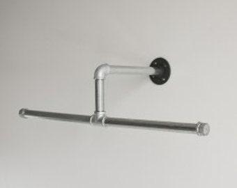 Closet Hanger Rod Industrial Pipe Silver Galvanized | Etsy