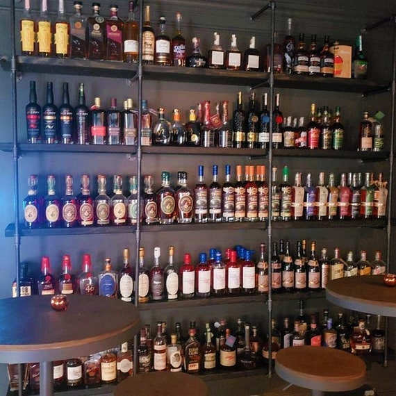"""Pipe Shelving, 6 Shelf Wall Mounted, Parts Kit """"DIY"""", Perfect Shelving for Bar, Coffee Shop, Restaurant, Clothing Store"""