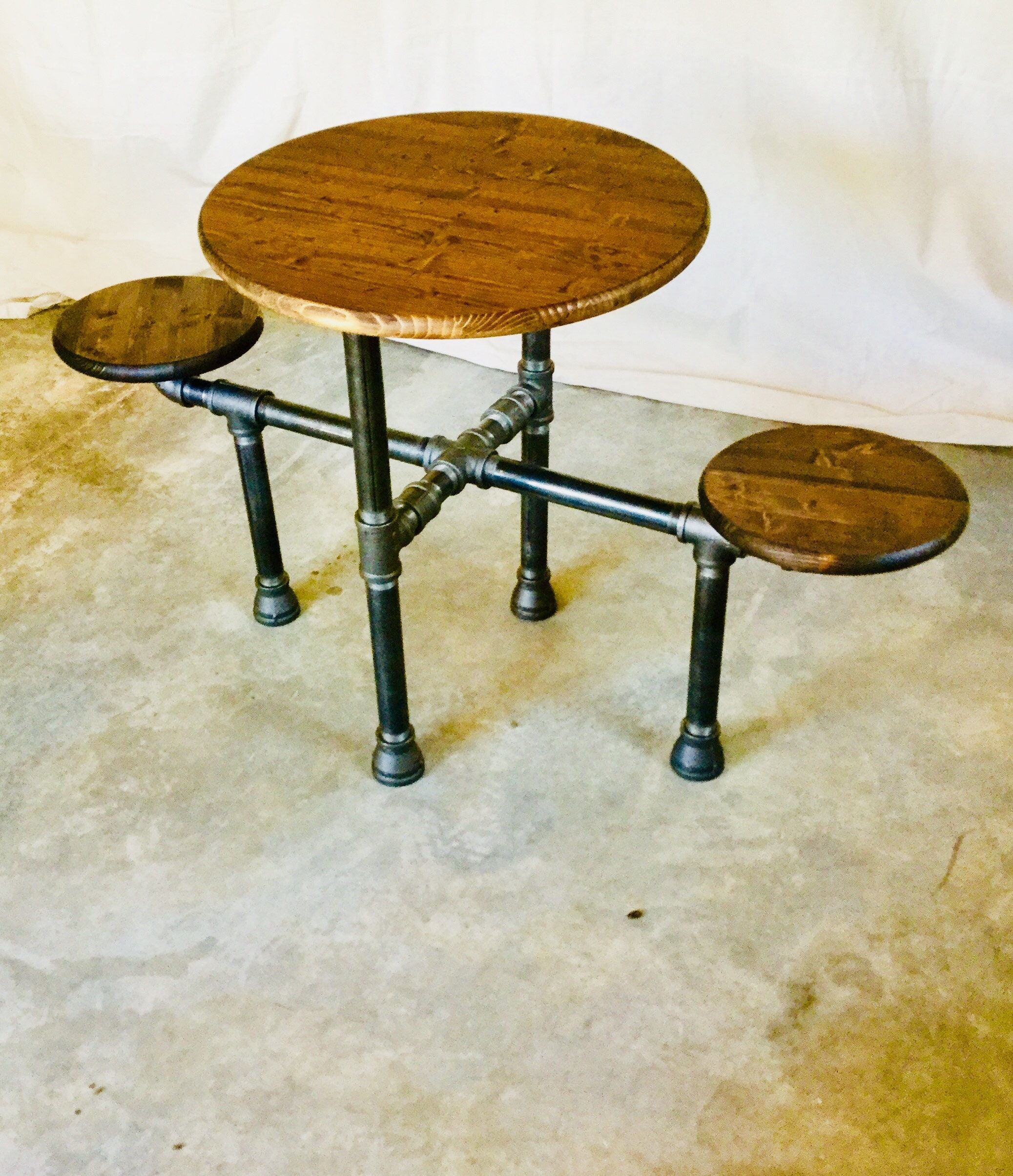 Industrial Design Black Pipe Table Diy Parts Kit 1 1 4