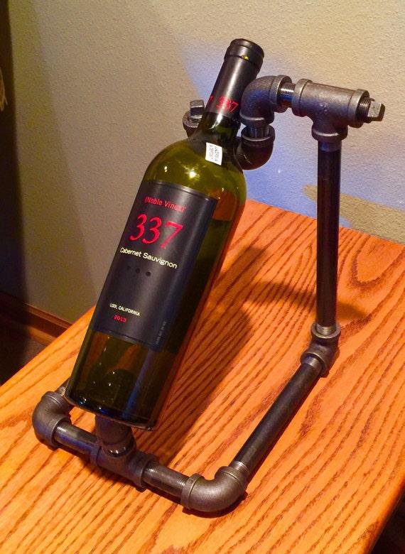 Wine Bottle Rack, Iron Pipe, Decorative Wine Bottle Display