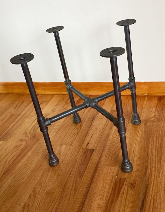 """Black Pipe Table Base """"DIY"""" Parts Kit, 3/4"""" Pipe x 40"""" Tall, Width Options -12"""", 14"""", 16"""", 18"""", 20"""", 22"""", 24"""", 26"""", 28"""", 30"""", 32"""" BAR HEIGHT"""