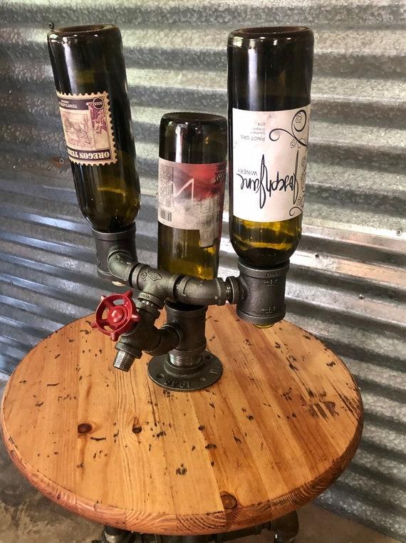 "Pipe Wine Rack Bottle Holder, Diagonal Wall Mount ""DIY"" Parts Kit"