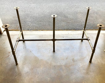 """Black Pipe Table Base,""""DIY"""" Kit, 3/4"""" x 30"""" Tall- Length- 26"""", 32"""", 38"""", 44"""", 56"""", 68"""",80"""" or 92"""" Width- 12"""", 16"""", 20"""", 24"""", 26"""", 28"""" or 30"""""""
