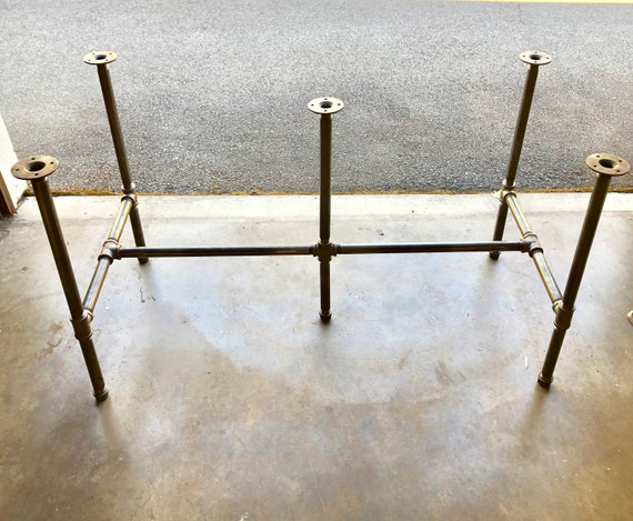 """Black Pipe Table Base, """"DIY"""" Kit, 1"""" x 30"""" Tall - Length- 26"""", 32"""", 38"""", 44"""", 56"""", 68"""",80"""" or 92"""" Width- 12"""", 16"""", 20"""", 24"""", 26"""", 28"""" or 30"""""""