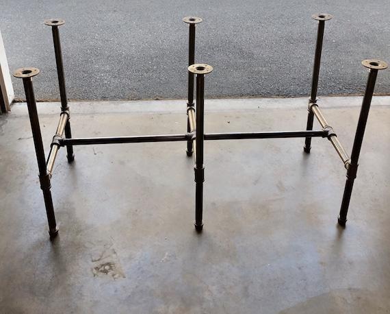 "Black Pipe Table Base ""DIY"" Parts Kit, 1"" Pipe x 30"" Tall- Choose Width- 18"", 20"", 24"", 26"", 28"", 30"" Choose Length- 68"", 80"", 92"", 104"""